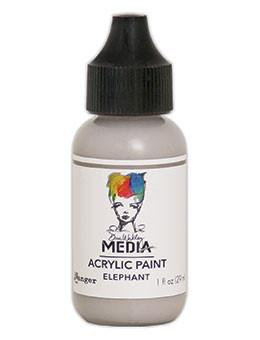 Dina Wakley Media Acrylic Paint Elephant, 1oz Paint Dina Wakley Media