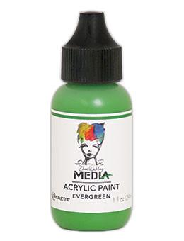 Dina Wakley Media Acrylic Paint Evergreen, 1oz Paint Dina Wakley Media