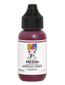 Dina Wakley Media Acrylic Paint Fuchsia, 1oz Paint Dina Wakley Media