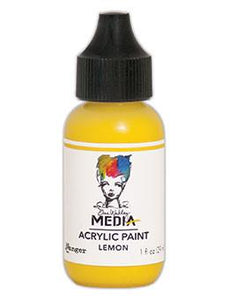 Dina Wakley Media Acrylic Paint Lemon, 1oz Paint Dina Wakley Media