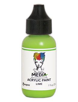 Dina Wakley Media Acrylic Paint Lime, 1oz