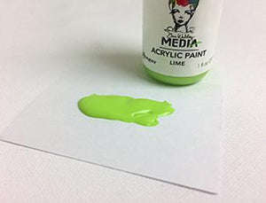 Dina Wakley Media Acrylic Paint Lime, 1oz Paint Dina Wakley Media