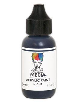 Dina Wakley Media Acrylic Paint Night, 1oz
