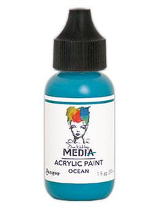 Dina Wakley Media Acrylic Paint Ocean, 1oz Paint Dina Wakley Media
