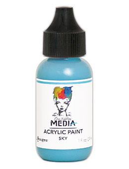 Dina Wakley Media Acrylic Paint Sky, 1oz Paint Dina Wakley Media