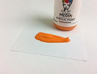 Dina Wakley Media Acrylic Paint Tangerine, 1oz Paint Dina Wakley Media