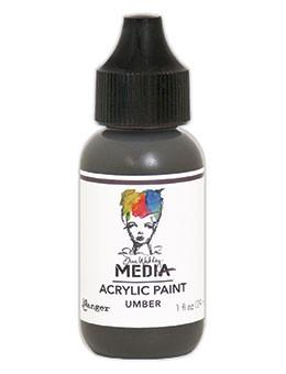 Dina Wakley Media Acrylic Paint Umber, 1oz Paint Dina Wakley Media