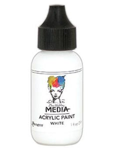 Dina Wakley Media Acrylic Paint White, 1oz Paint Dina Wakley Media