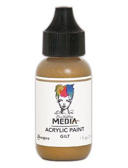 Dina Wakley Media Acrylic Paint Gilt, 1oz Paint Dina Wakley Media