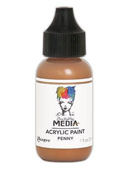 Dina Wakley Media Acrylic Paint Penny, 1oz Paint Dina Wakley Media