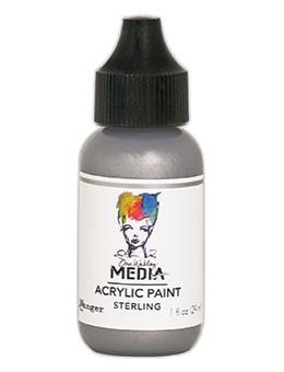 Dina Wakley Media Acrylic Paint Sterling, 1oz Paint Dina Wakley Media