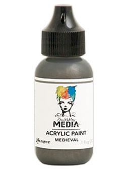 Dina Wakley Media Acrylic Paint Medieval, 1oz