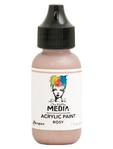 Dina Wakley Media Acrylic Paint Rosy, 1oz Paint Dina Wakley Media