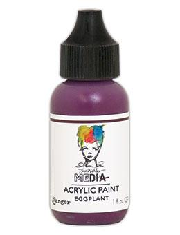 Dina Wakley Media Acrylic Paint Eggplant, 1oz