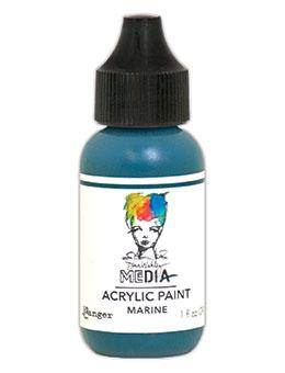 Dina Wakley Media Acrlyic Paint Marine, 1oz Paint Dina Wakley Media