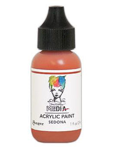 Dina Wakley Media Acrylic Paint Sedona, 1oz Paint Dina Wakley Media