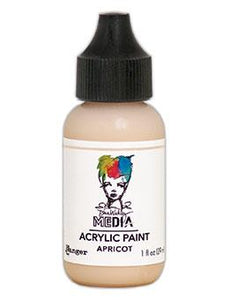 Dina Wakley Media Heavy Body Acrylic Paint Apricot, 1oz Paint Dina Wakley Media