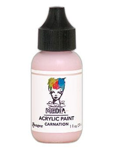Dina Wakley Media Heavy Body Acrylic Paint Carnation, 1oz Paint Dina Wakley Media