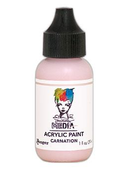 Dina Wakley Media Heavy Body Acrylic Paint Carnation, 1oz