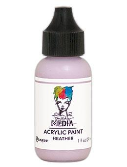 Dina Wakley Media Heavy Body Acrylic Paint Heather, 1oz Paint Dina Wakley Media
