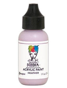 Dina Wakley Media Heavy Body Acrylic Paint Heather, 1oz