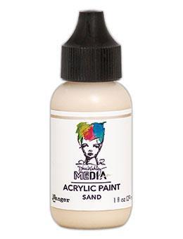 Dina Wakley Media Heavy Body Acrylic Paint Sand, 1oz