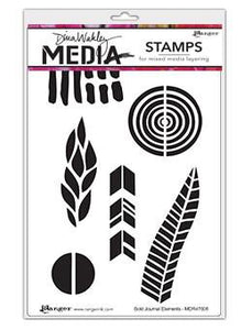 Dina Wakley Media Stamps Bold Journal Elements