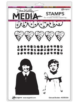 Dina Wakley Media Stamps Gals and Borders Stamps Dina Wakley Media