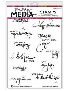 Dina Wakley Media Stamps Just What to Say Stamps Dina Wakley Media