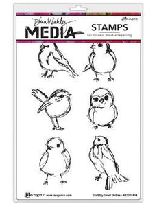 Dina Wakley Media Stamps Scribbly Small Birds Stamps Dina Wakley Media
