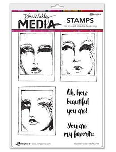 Dina Wakley Media Stamps Boxed Faces