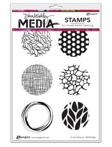 Dina Wakley Media Stamps Circle Patterns Stamps Dina Wakley Media
