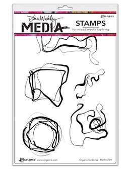 Dina Wakley Media Stamps Organic Scribbles Stamps Dina Wakley Media