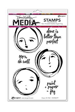 Dina Wakley Media Stamps Oops, Oh Well