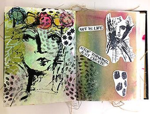 Dina Wakley Media Stamps Splatter Girl Stamps Dina Wakley Media