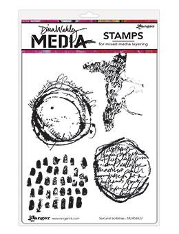 Dina Wakley Media Stamps Text and Scribbles Stamps Dina Wakley Media