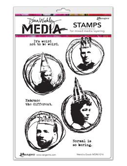 NEW! Dina Wakley Media Stamps Weird is Good