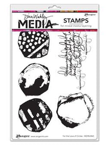 Dina Wakley Media Stamp For the Love of Circles Stamps Dina Wakley Media