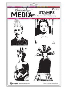 Dina Wakley Media Stamps Quirky People