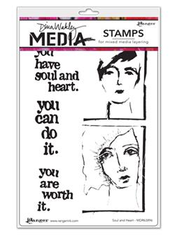 NEW! Dina Wakley Media Stamp Soul and Heart