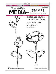 Dina Wakley Media Stamp Always Flowers
