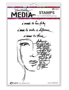 Dina Wakley Media Stamp I Want Stamps Dina Wakley Media