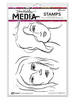NEW! Dina Wakley Media Stamp Lovely Women
