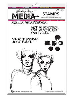 Dina Wakley Media Stamp Soul Whisperings Stamps Dina Wakley Media