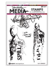 Dina Wakley Media Stamp I Spill Stamps Dina Wakley Media