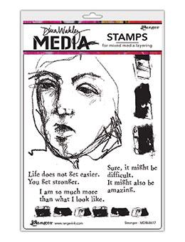 Dina Wakley Media Stamp Stronger Stamps Dina Wakley Media