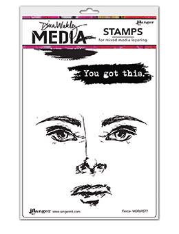 Dina Wakley MEdia Stamp Fierce Stamps Dina Wakley Media
