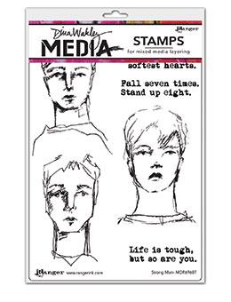 Dina Wakley Media Stamp Strong Men Stamps Dina Wakley Media