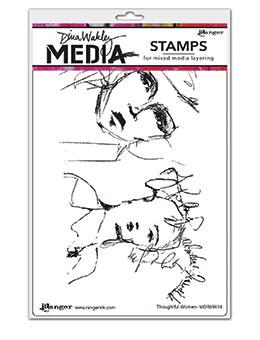 Dina Wakley Media Stamp Thoughtful Women Stamps Dina Wakley Media