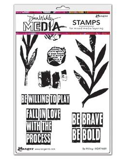 Dina Wakley Media Stamp Be Willing Stamps Dina Wakley Media